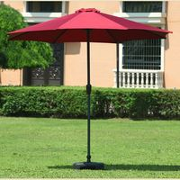 aluminium beer garden / beach parasol straw outdoor umbrella