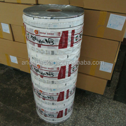 dried noodle packing film roll/instand noodles plastic packaging roll film