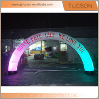 wholesale custom printed advertising inflatable led arch for sale