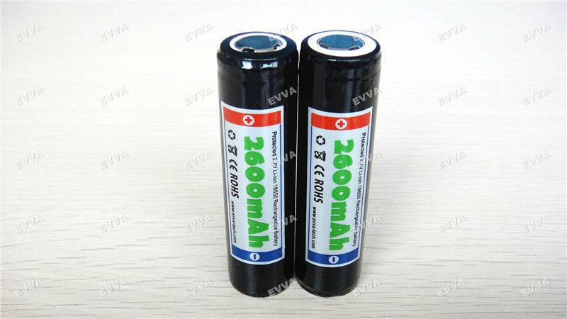 [3.7V 2600mAh] EVVA 18650 Rechargeable li-ion Battery for LED Torch