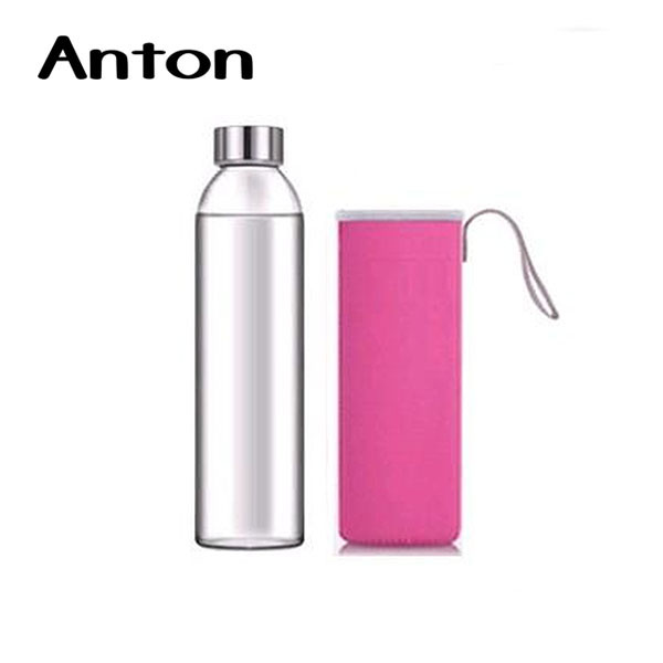 400ml durable high borosilicate glass hot water and fruit infuser bottle
