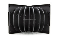 51mm black DVD case for 16 DVDs with tray