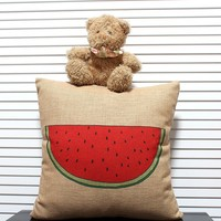 Ikea Style Watermelon Design Pillow Chair Seat Cushion Home Sofa decorative pillow Case