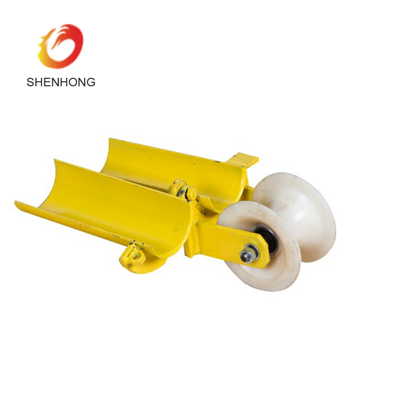 Cable Laying Equipment Bellmouth Cable Pulling Roller With Nylon Wheel