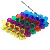 Attractive Colored Transparent Magnetic Push Pin