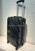 laser film ABS+PC Travel Zipper Luggage HARD CASE.