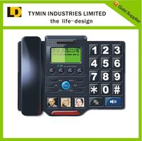 2016 Best selling desktop wired telephone with handsfree function big button phone