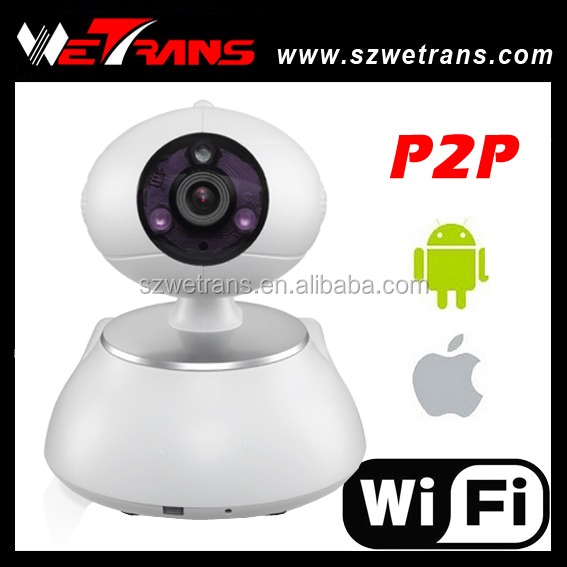 WETRANS TIM-100 Support Alarm Pan Tilt 720P 10m Night Vision h.264 p2p wifi camera with sdk