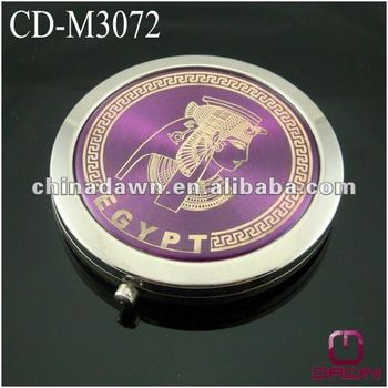 Pharaoh Purple color pocket mirror cosmetic CD-M3072