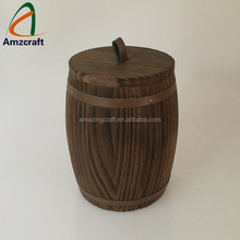 Customized Wooden Honey Storage Barrel Lift Lid with Rubber Ring