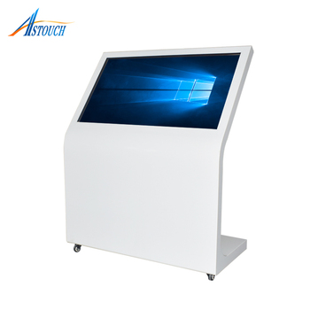 43 Inch Standing Self Service Information Touch Mall Kiosk