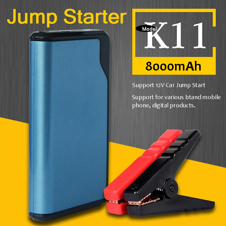 Customized Brand Oem Service Smallest <strong>K11</strong> 8000Mah Slim Peak 300 Amp Jump Starter
