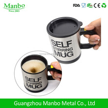 Stocked,Eco-Friendly Feature Double Wall Coffee Mug Stainless Steel Metal Self Heating Cup With Handle