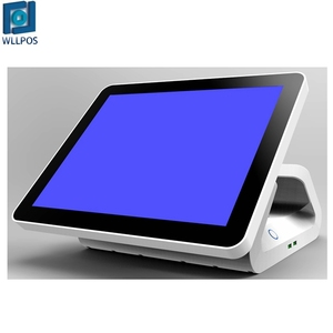New design 15 Inch capacitive or resistive touch monitor with optional VFD display single LED screen POS devices