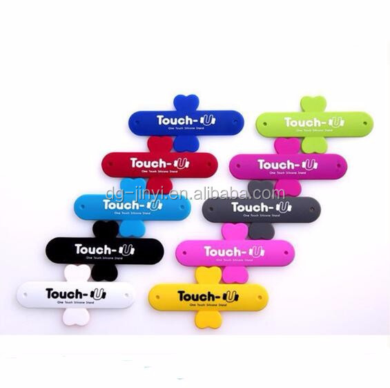 Silicone one touch cell phone stand touch-u silicone phone stand