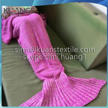 knitting mermaid crochet sleeping bag/blanket mermaid/crochet mermaid tail