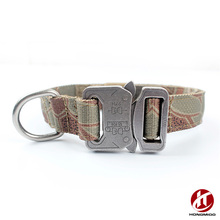 Outdoor Series Nylon Canvas Dog Collar with Name Plate