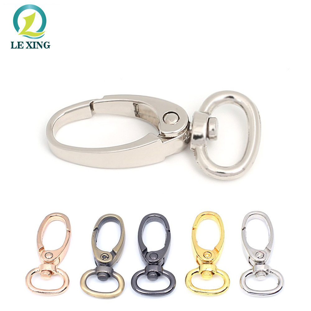 New style metal swivel lobster clasps clips snap hook spring bag purse hook