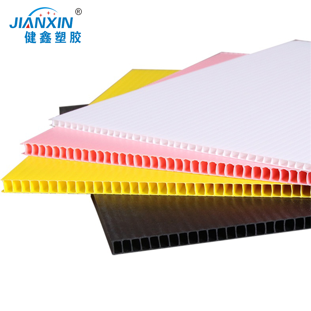 Factory 2-12mm Custom White PP Corrugated Plastic Corflute Sheet /Hollow Board