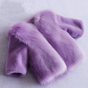 wholesale girl's fur coat at low price