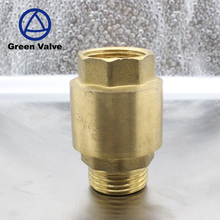 Green-GutenTop Water bronze spring loaded non-return flap valve natural color brass spring check valve