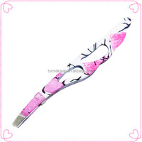 Beauty stainless steel tweezers for eyelash extension
