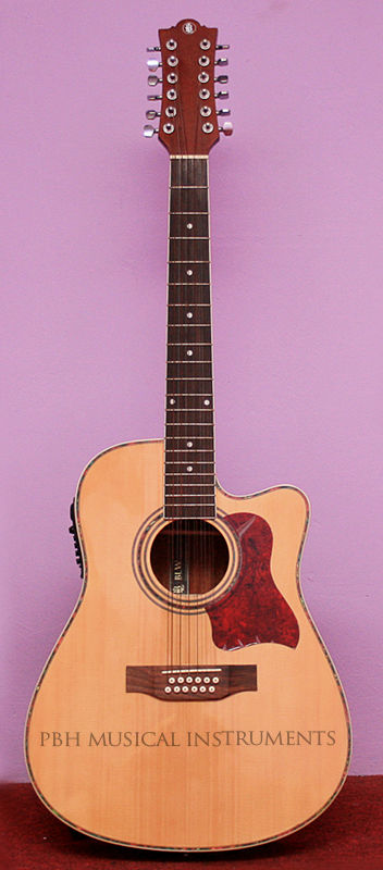 BLW 12 STRINGS SEMI-ACOUSTIC GUITAR