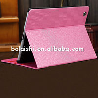 2014 new Unique Designed Bling Durable Stand Leather Case professional factory supply 3d case for ipad case made in china