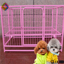 Folding trotters Pet cage folding plastic spray wire dog cage