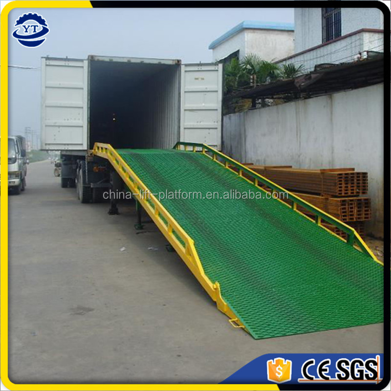 adjustable mobile hydraulic dock ramp, Loading deck for forklift loading ramp container