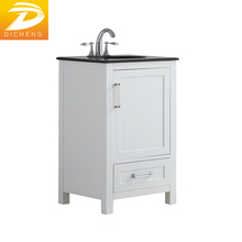 Black Granite Top Undermout Sink European Modern Bathroom Vanity