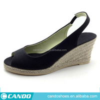 fashion canvas shoe wholesale china women shoe on canton fair,lady shoe,espadrille jute sole shoes