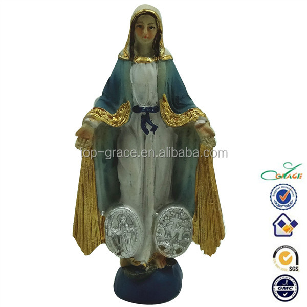 Resin christian our lady of grace 30cm statue