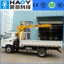 china-made 2 ton telescopic boom small used truck mounted crane for sale