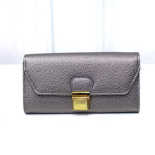 China design elegant women leather wallet fashion long type lady purses from factory