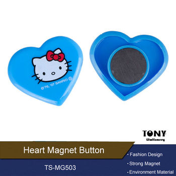 Heart Design Magnet Button