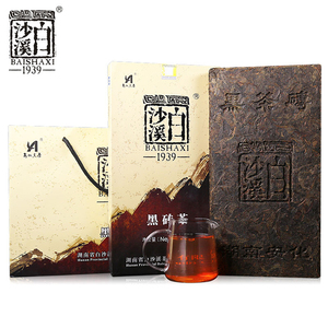 China Anhua baishaxi hot vital tea hei brick dark tea2kg
