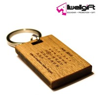 wood carve keychain blank wooden keychain with logo