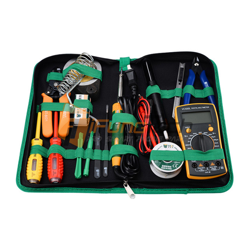 16 in 1 Household Professional Tool with Screwdrivers Soldering Iron Multimeter and Tweezers for Phone Laptop PC repair #BST-113