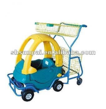 FUNNY PLASTIC CHILDREN SHOPPING CART