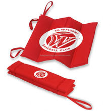 Personalized 600D Polyester Foldable Stadium Seat Cushions with Elastic Straps