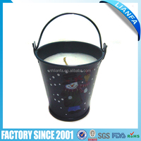CHRISTMAS METAL CANDLE BUCKET