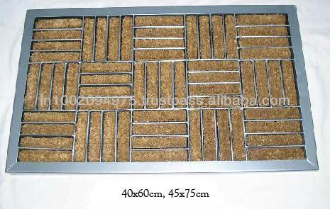 Rubber Moulded Coir Mat with Steel Frame