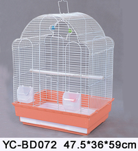 New products portable round top wire mesh bird cage and pet cage