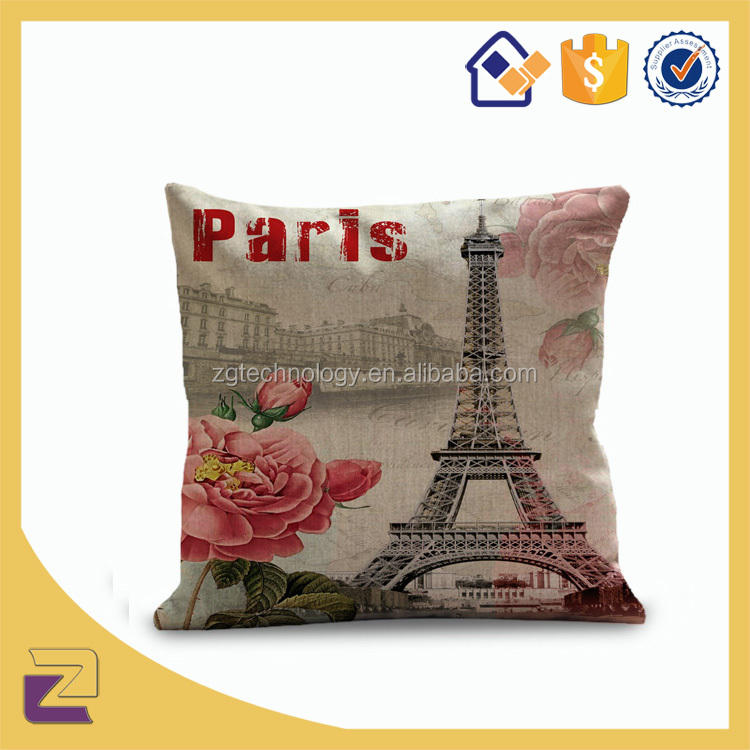 Latest Design Vintage Fabric Painting Massage Pillow Case Cushion Cover