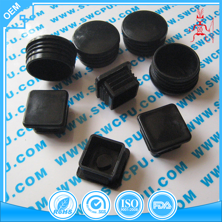 Customized for steel tube black plastic hex pipe end caps