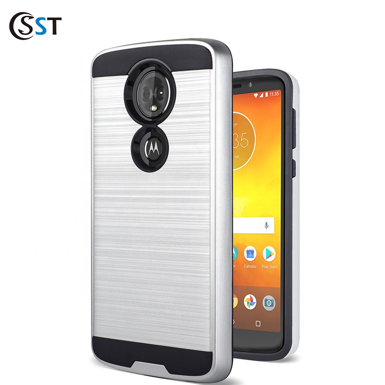 <strong>Shock</strong> Proof Protective For <strong>Motorola</strong> E5 Plus Brushed Metak Case Back Cover For MOTO E5 Plus/E5 Supra