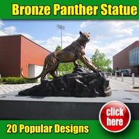 2015 high quality large outdoor animal bronze sculptures