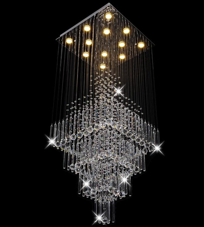 ELegant modern pendant light popular crystal design in hotel mall bars