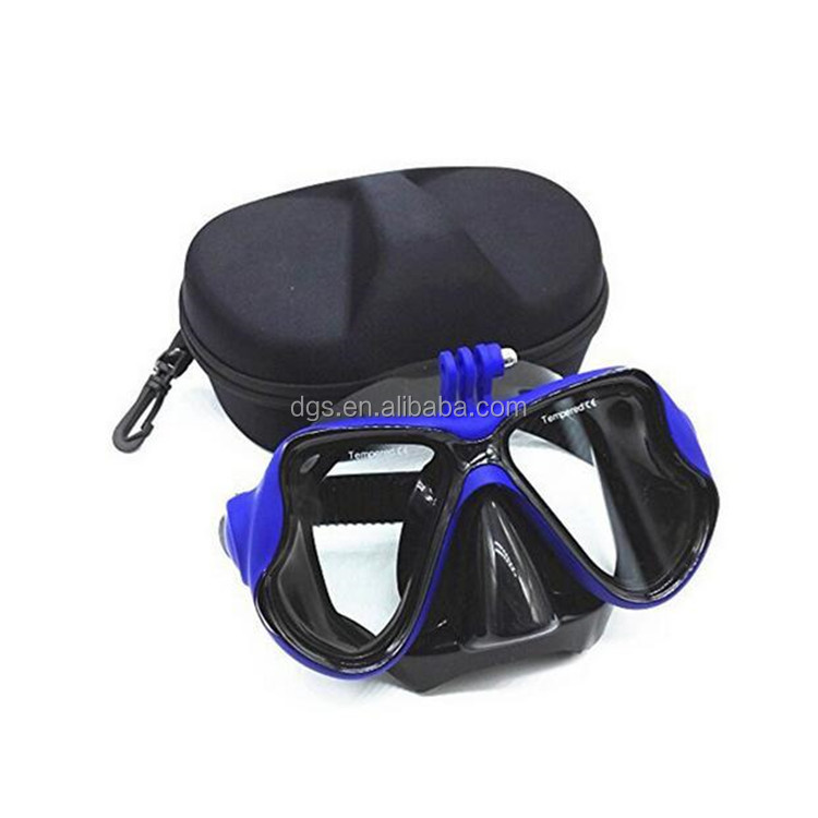 wholesale professional underwater camera diving mask scuba snorkel swimming goggles and box for gopro xiaomi SJCAM sports camera